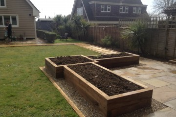 Seating Area and Planted Beds